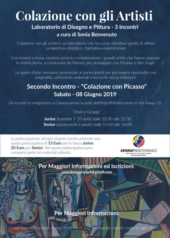 Locandina-Corso-Pittura-Colazione-con-Picasso